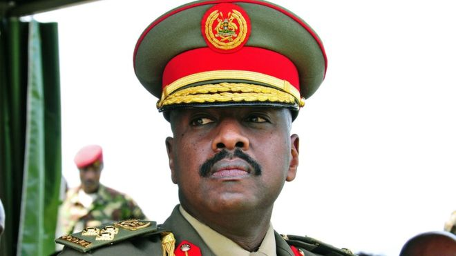 Muhoozi Kainerugaba, 42, was promoted from brigadier to major general last year